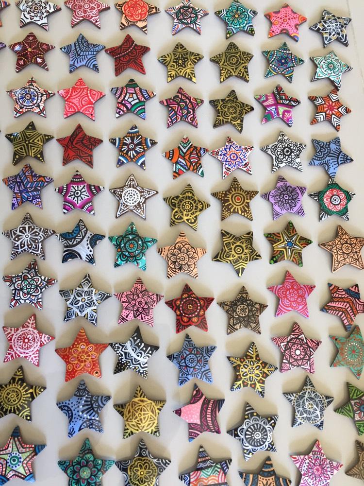 Coconut shell tile-Star Shape