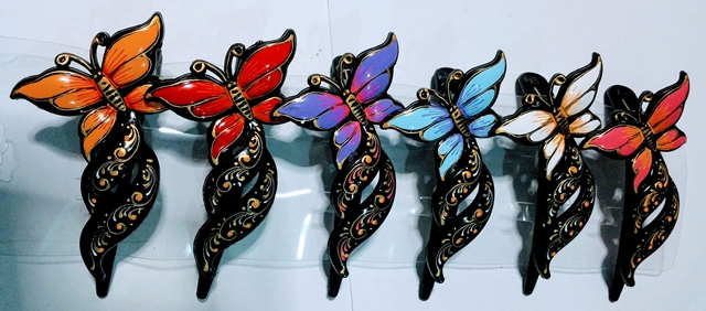 Hair clips- butterfly with tail shape