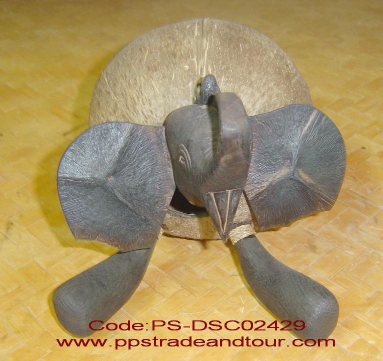 coconut shell saving doll-elephant