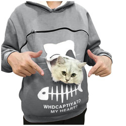 2020 Hot Selling Womens Hoodies Leisure Sports Pet Carry Cat Cardigan Zipper Sweatshirts