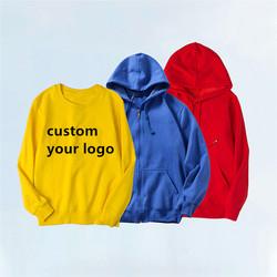 wholesale customized embroidery logo sweatshirts printing unisex men streetwear oversized pullover c