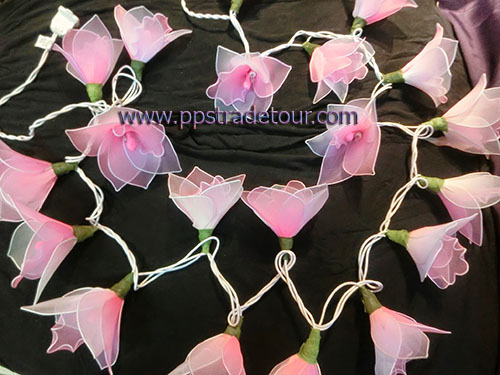 Nylon flower string lights-17