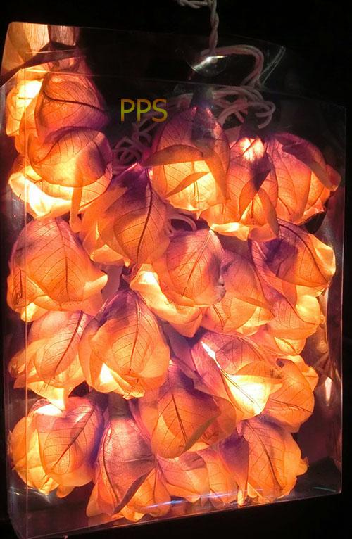 Leaf-Paper-Flower-String-Lights
