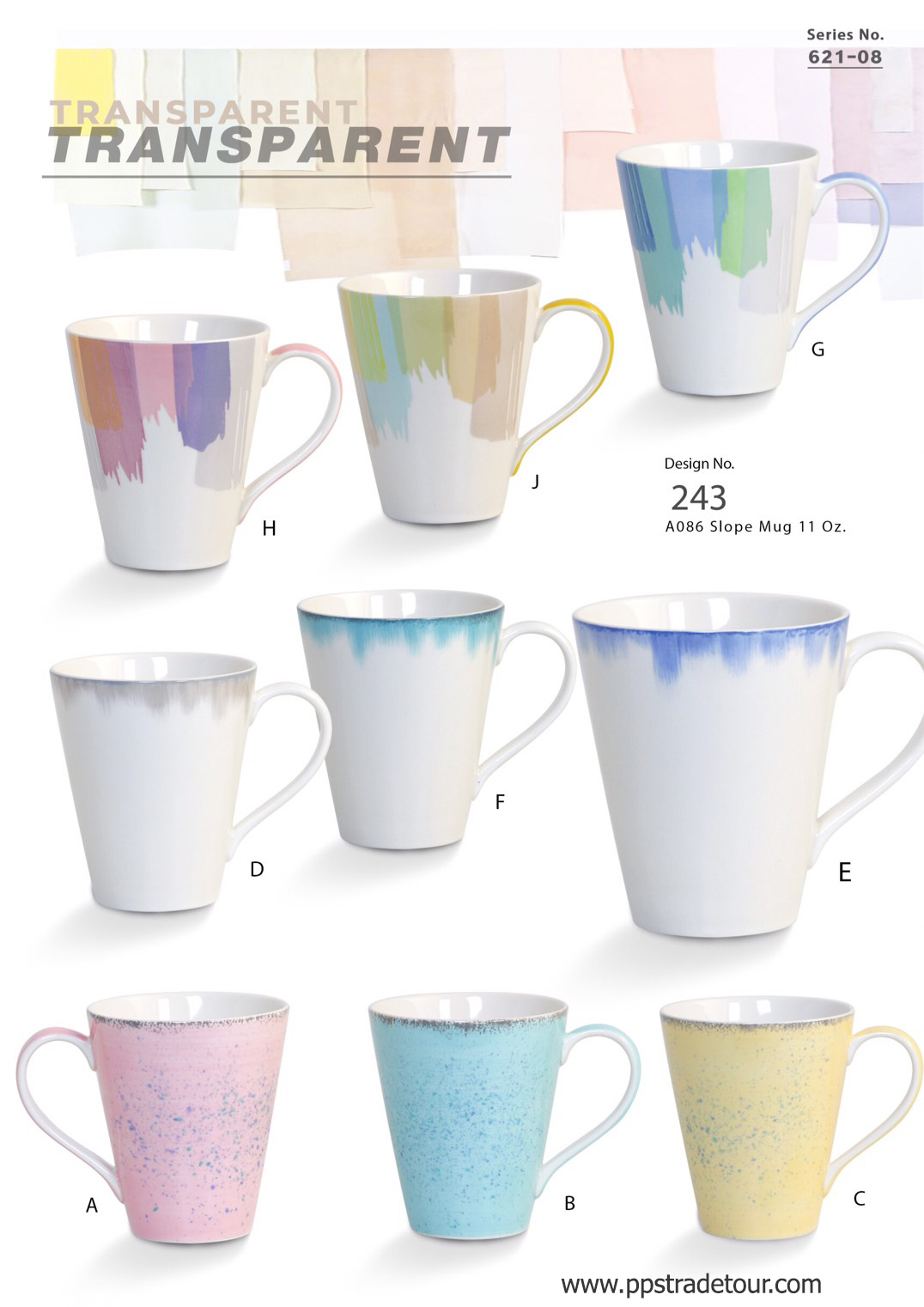 Transparent-Ceramic Mug 16 Oz.