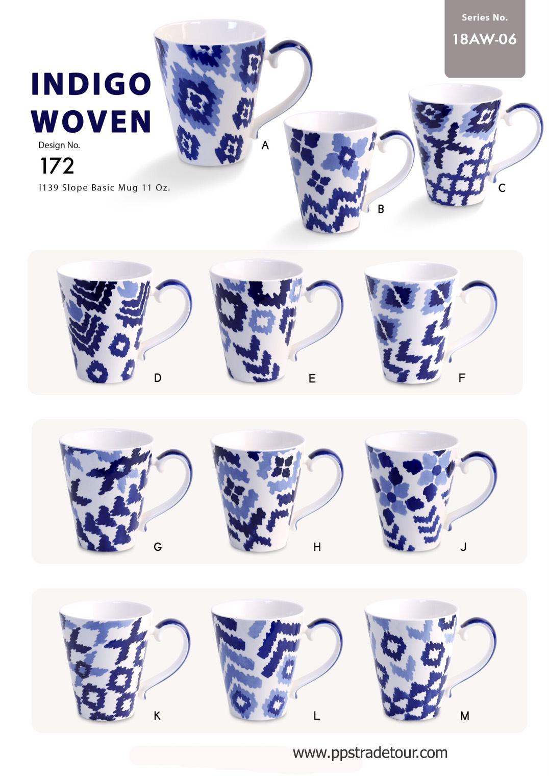 Indigo Woven-Ceramic Mug 11 Oz.