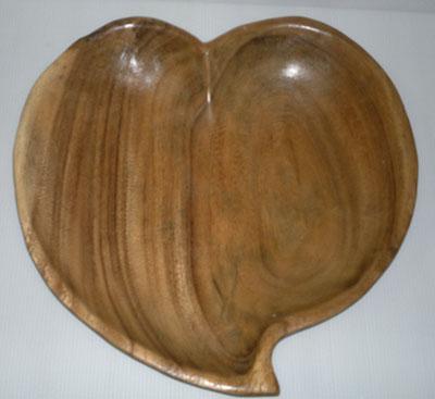 wood heart tray