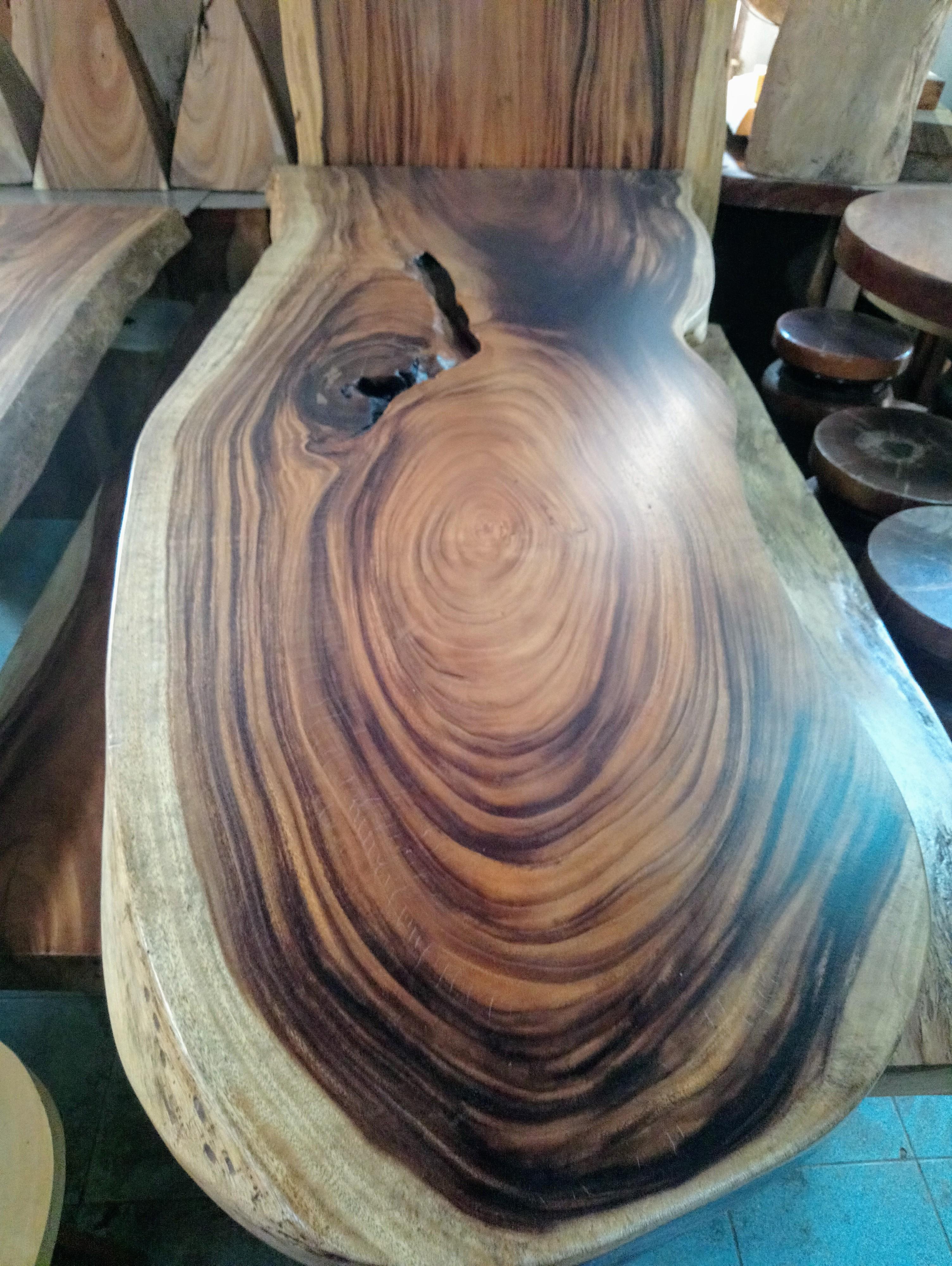 Large Rain Tree Wood Table_1590