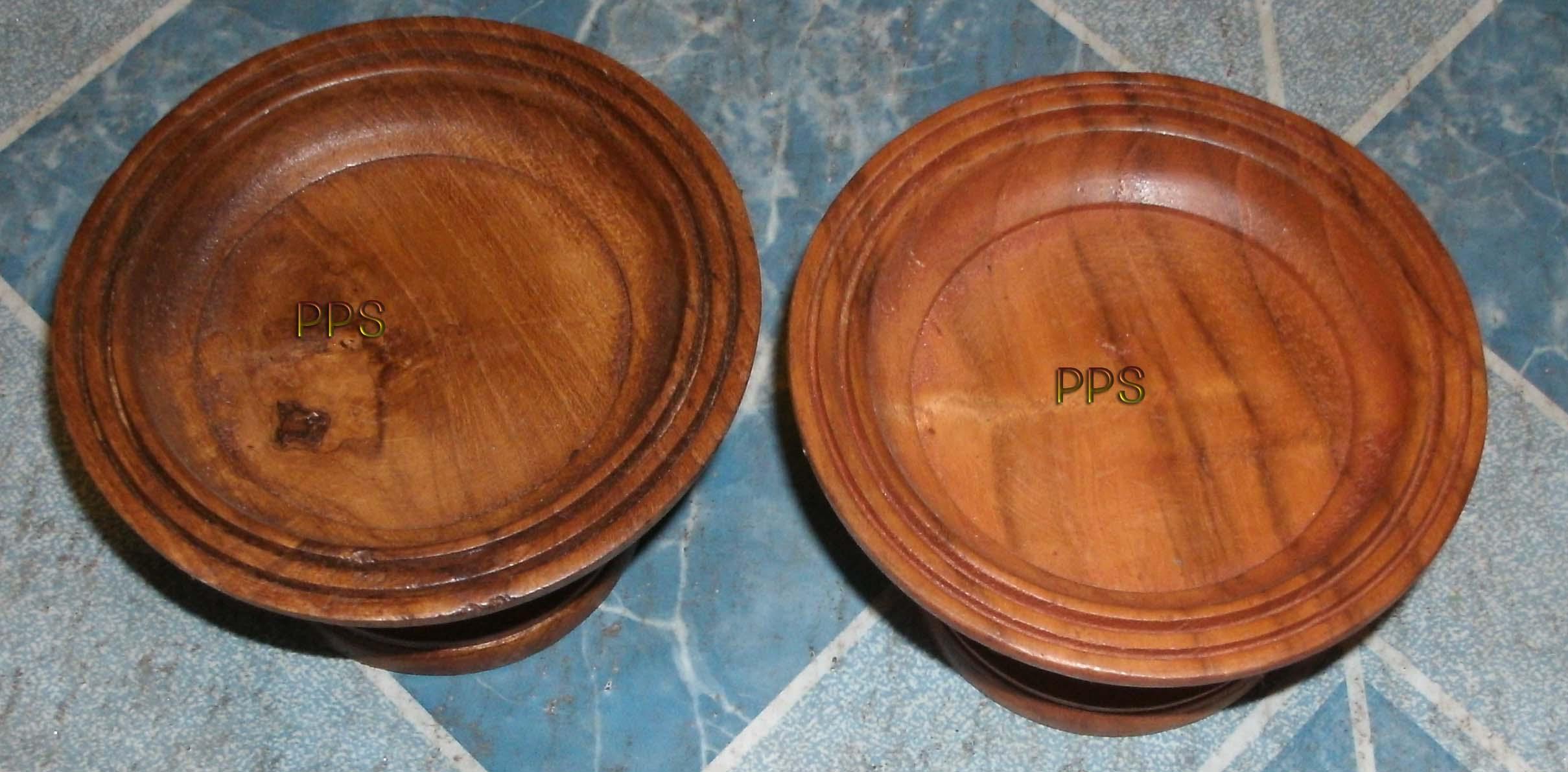 Teak Wood saucers with base