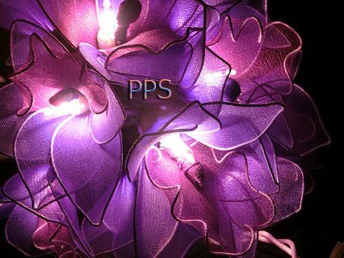 Nylon flower string lights-8