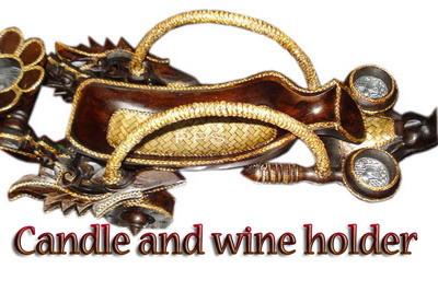 Wood elephant Candle Holder-CHD-C00199-11
