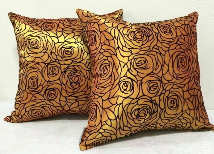 Cushion Pillow Case_YellowGold