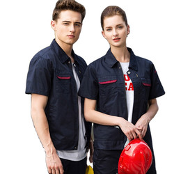 2020 factory supply industrial short sleeve engineer work wear