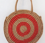 Summer Beach Round Paper Straw Bag .png