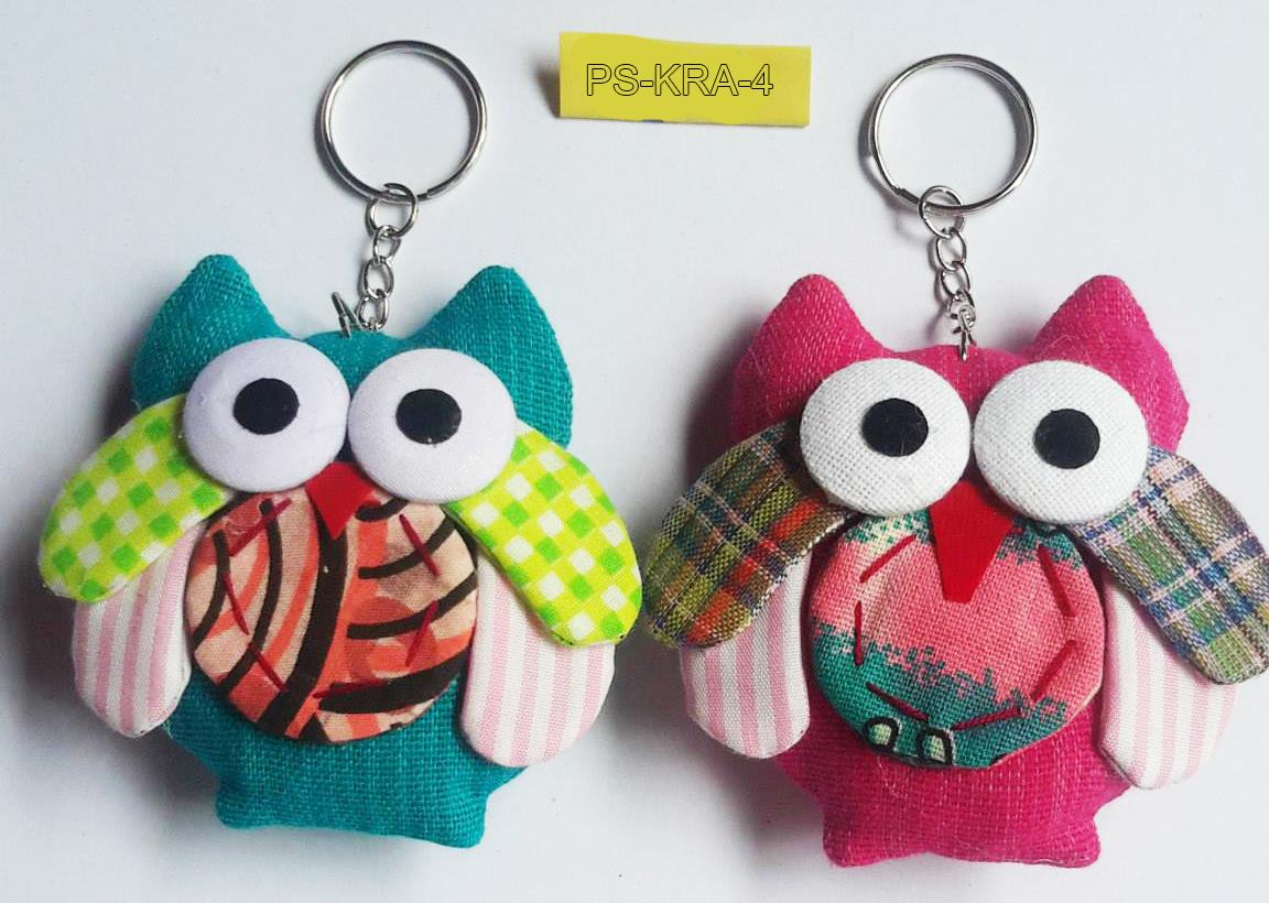 Cotton owl keyring-PS-KRA-4