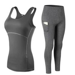 Women's Sports Gym Yoga Workout Activewear Sets Top & Leggings Set