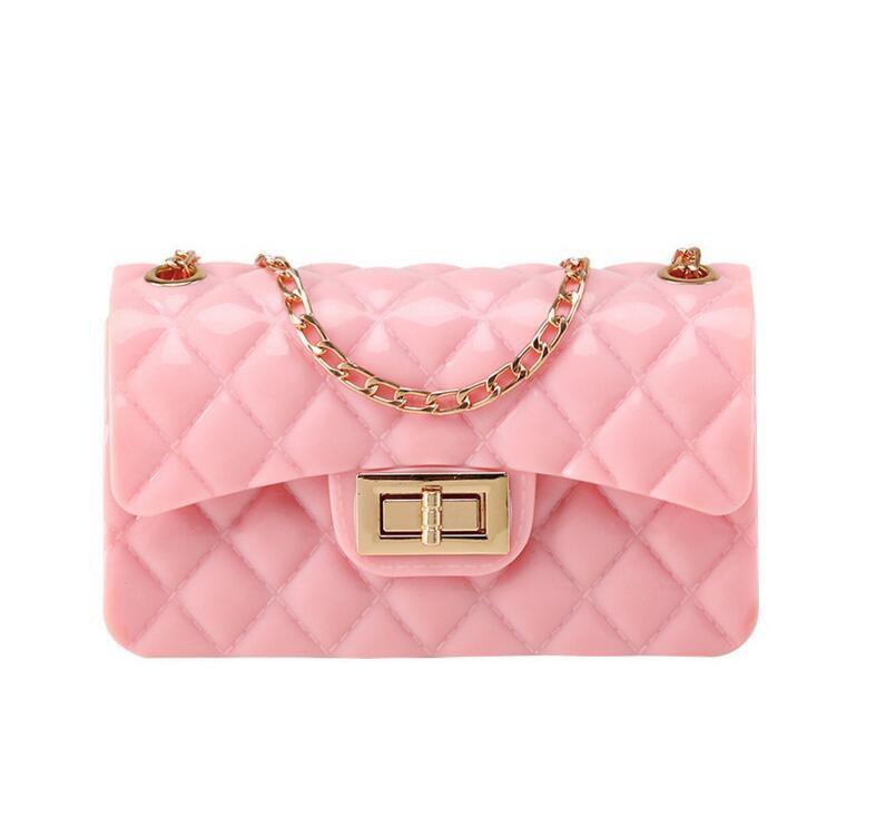 Wholesale rainbow colorful ladies clutch mini pvc jelly handbag fashion custom luxury women purse
