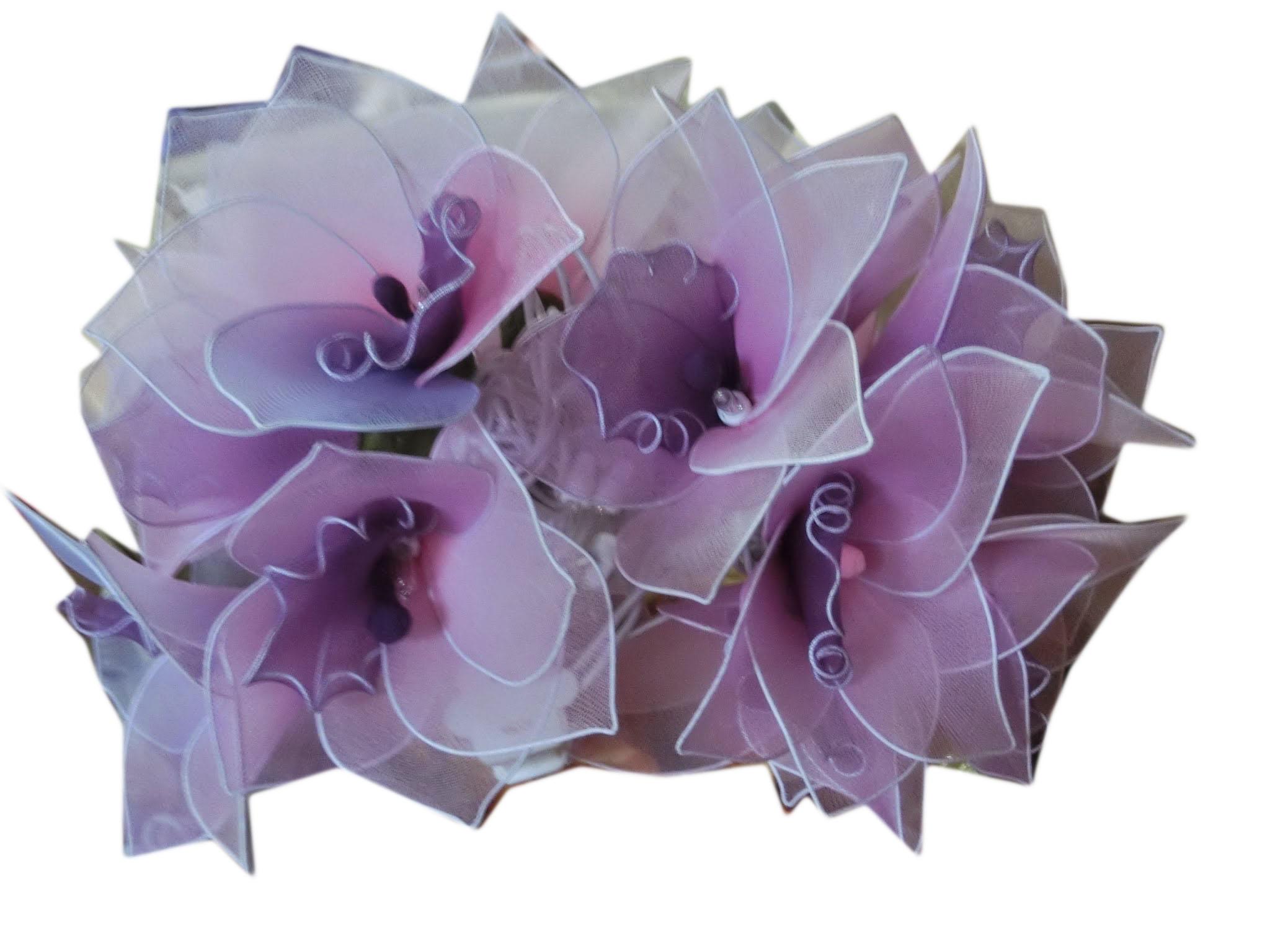 Nylon flower string lights-7