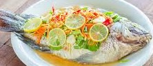 ปลานึ่งมะนาว-Pla nueng manoa