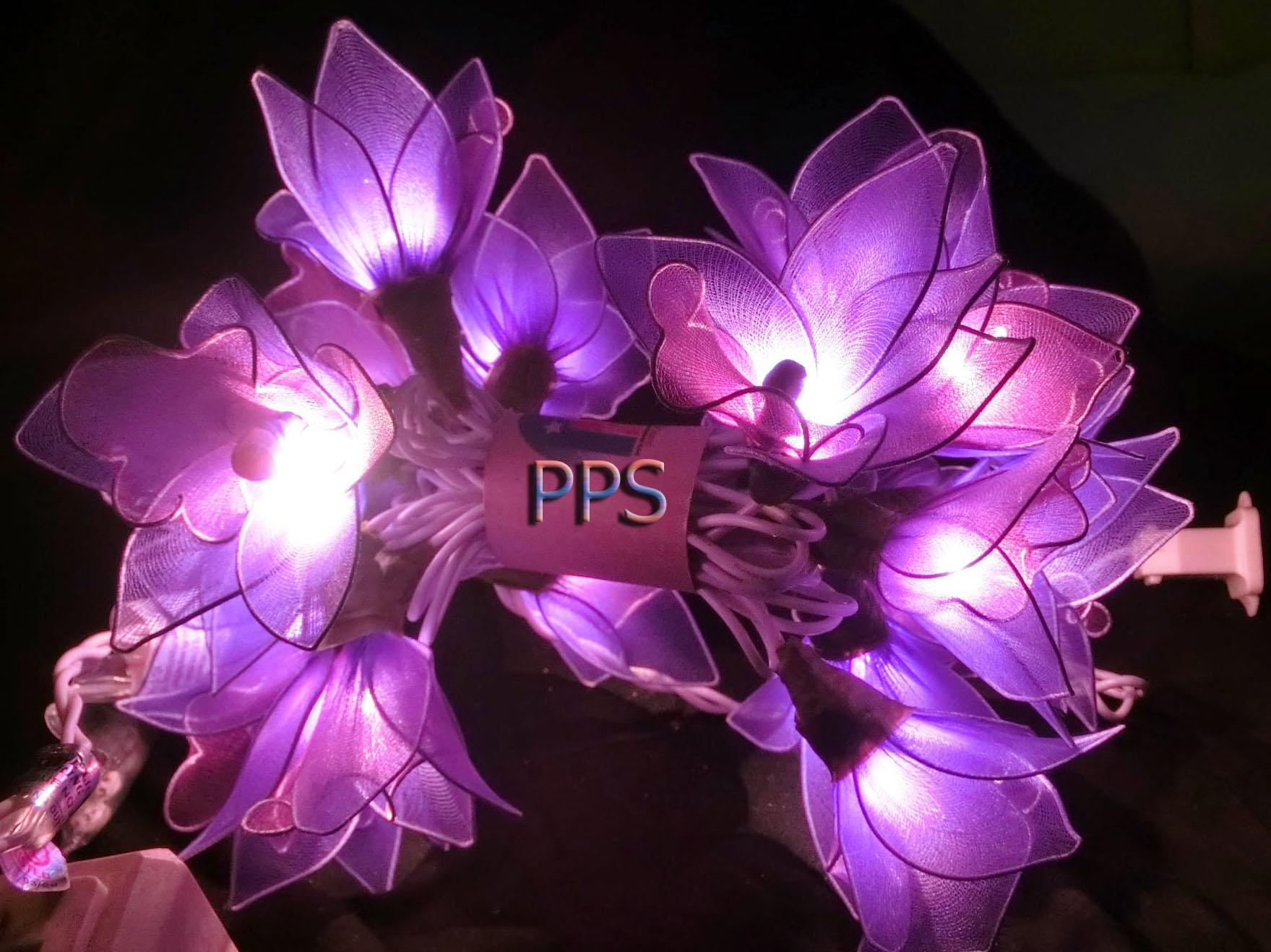 Nylon flower string lights-9