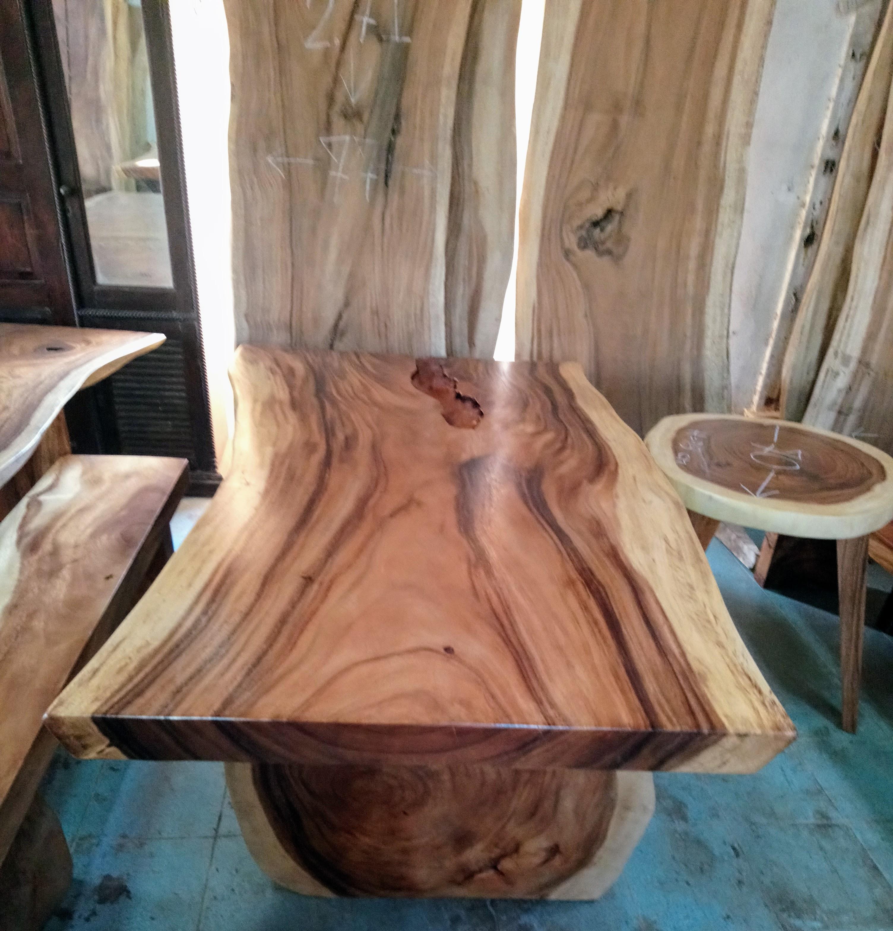Large Rain Tree Wood Table_1586