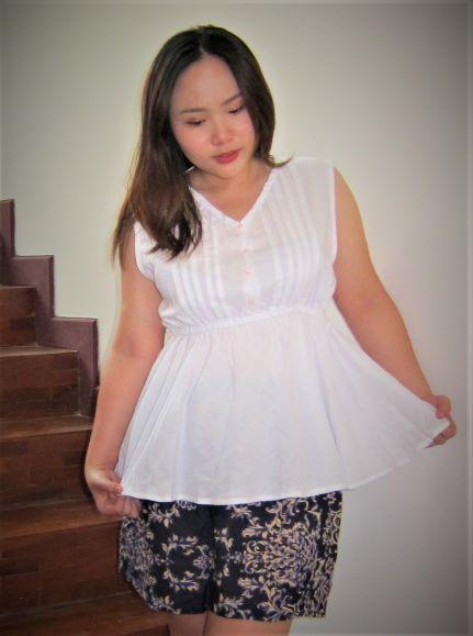 Linen-cotton tank top