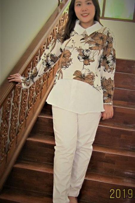 Polyester women's blouse