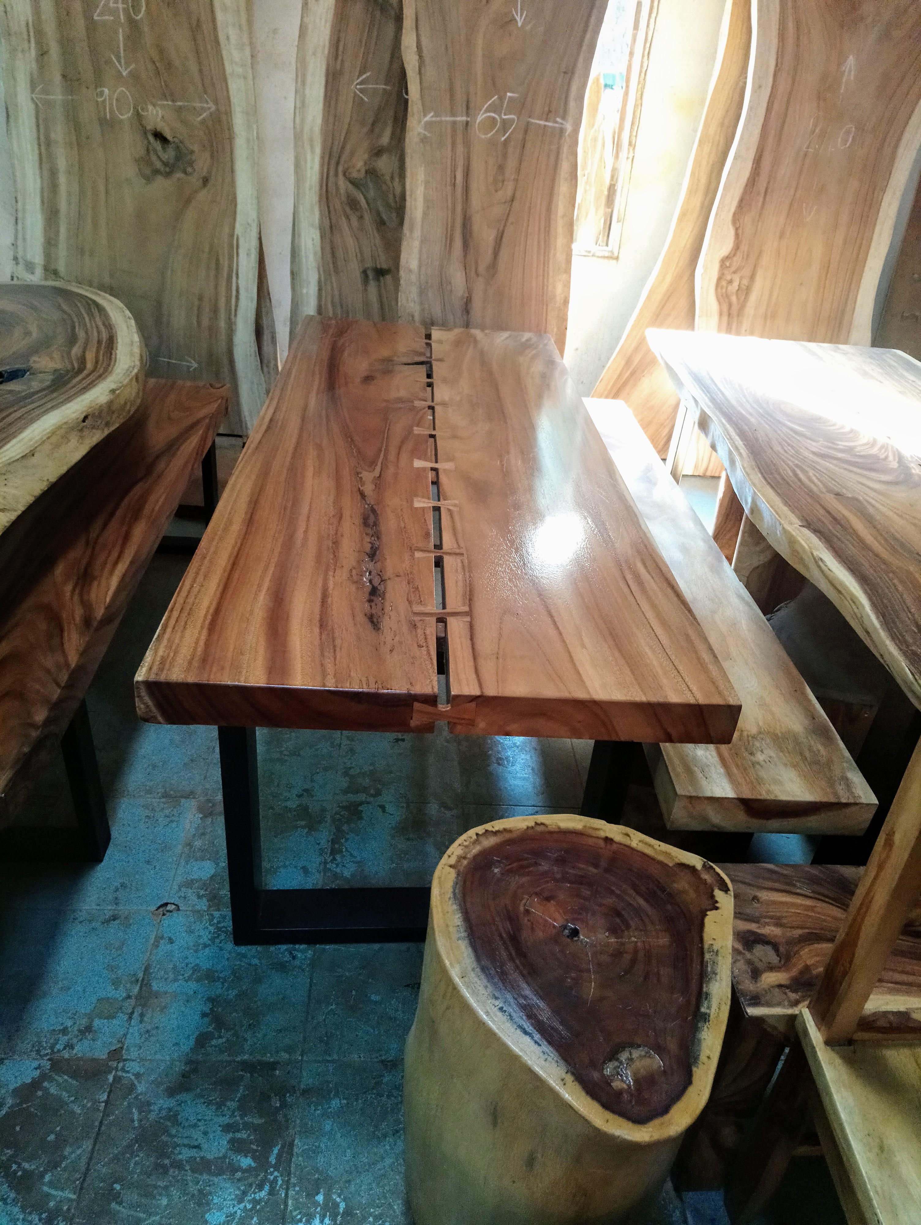 Large Rain Tree Wood Table_1588