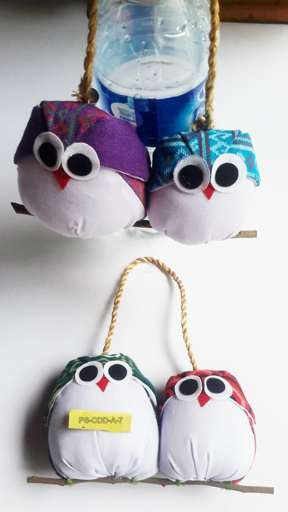 Cotton owl keyring-PS-DDA-7