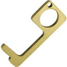 Zinc Alloy Copper EDC Hygiene Hand Touch Free Tool Door Opener Metal Custom Keychain for ATM Elevator Home Indoor Outdoor