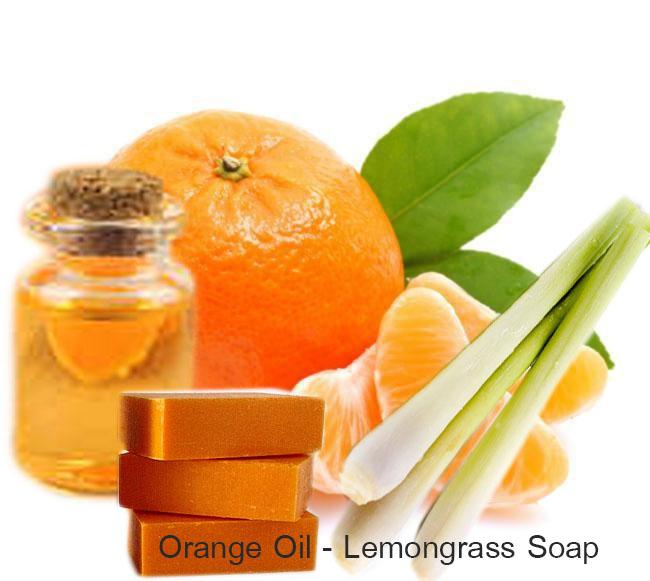 Orangeoil-lemongrass Soap