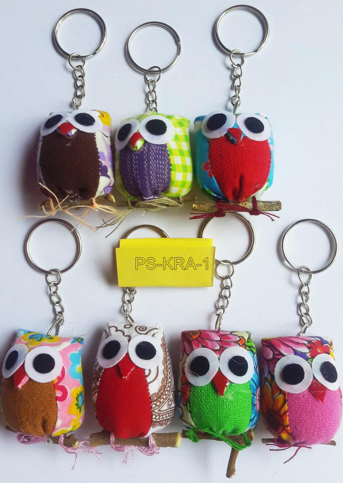 Cotton owl keyring-PS-KRA-1