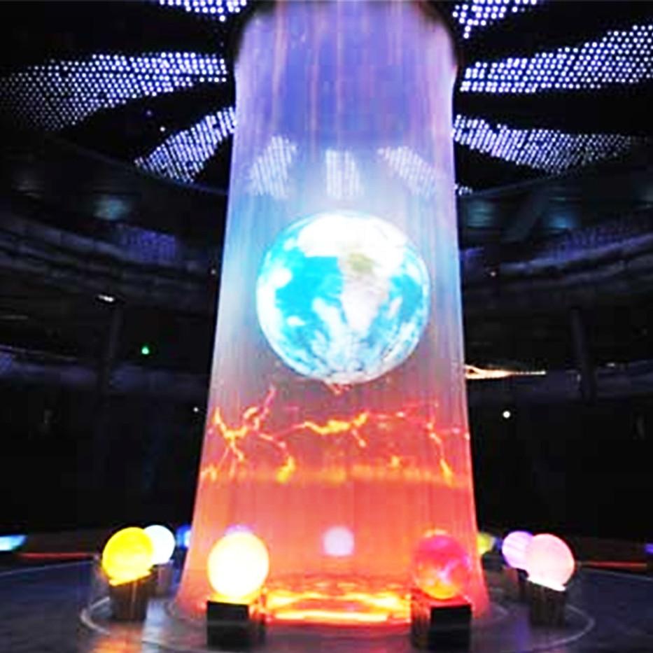 transparent 360 Degree 3D hologram gaze Holographic Stage Projector Screen Hologram Mesh Screen