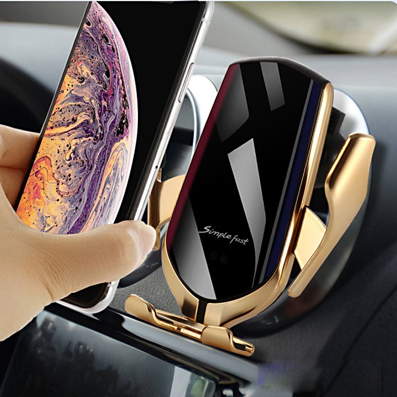 3 In 1 Car Wireless Charger Holder 10W 15W Wireless Charging Car Mount Fast Qi Wireless Car Charger