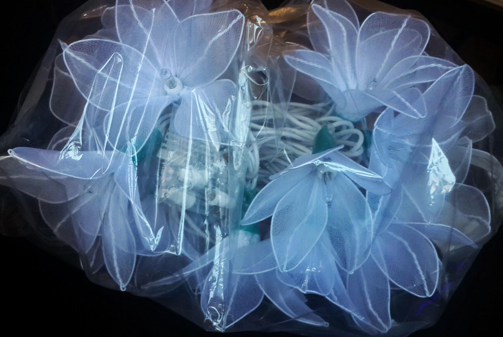 Nylon flower string lights-20
