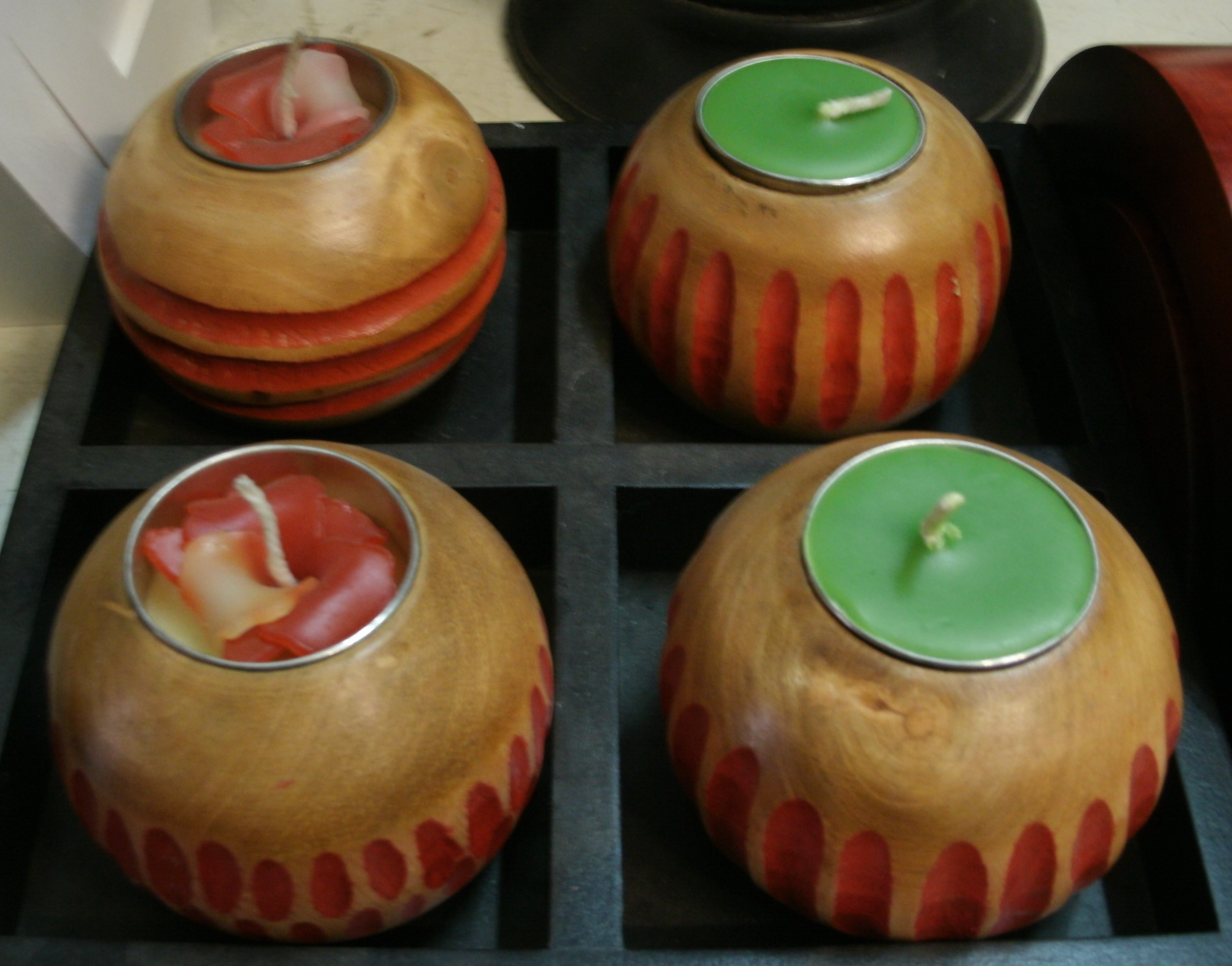 Wood candle holder-WCH-17