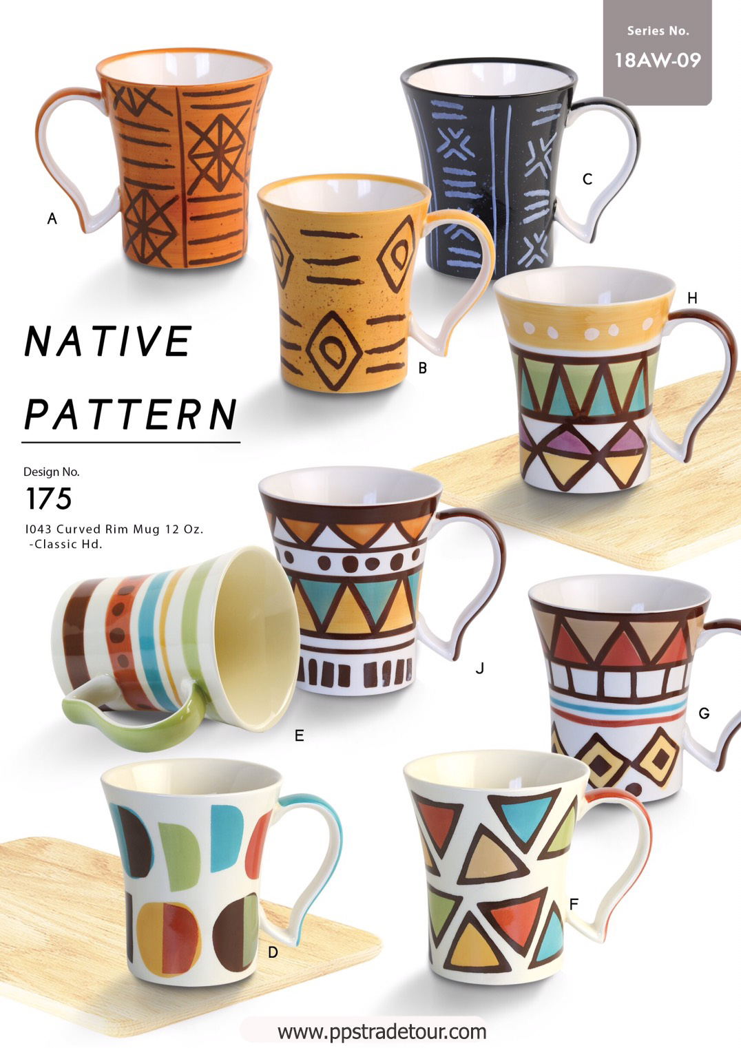 Native Pattern-Ceramic Mug 12 Oz.