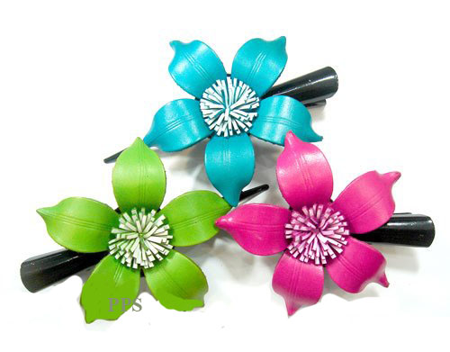 Leather Flower for hair Clips-g10