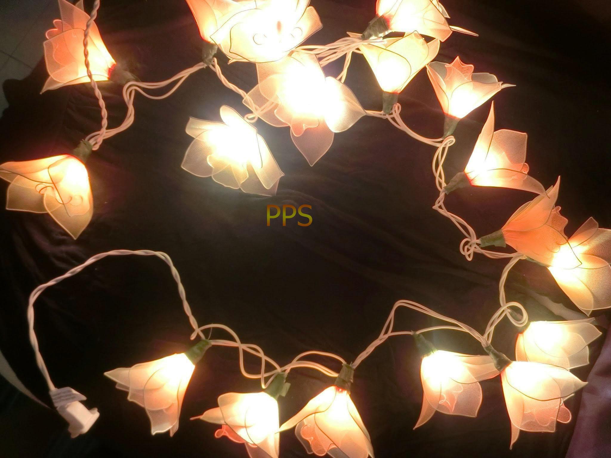 Nylon flower string lights-23