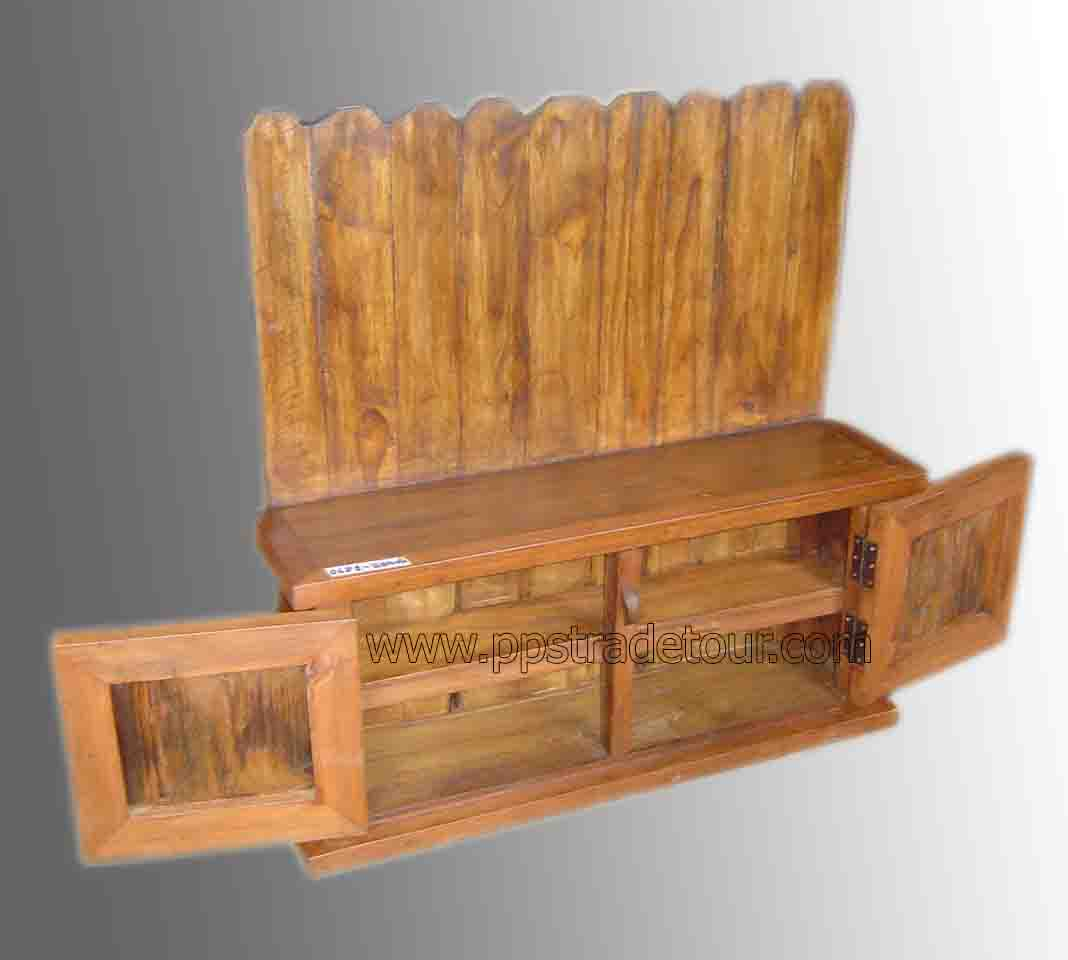 PS-Antique Wood Shelf-sn381-2