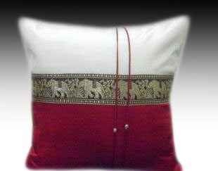 Cushion cover- 2 tone Red-1