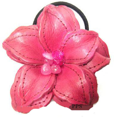 Leather Flower for hair band-h9