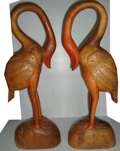 Wood flamingo