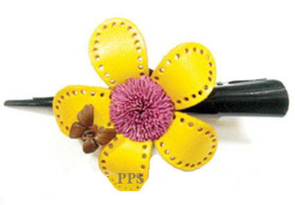 Leather Flower for hair Clips-g17