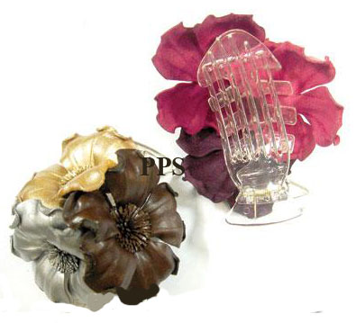 Leather Flower for hair Clips-g22