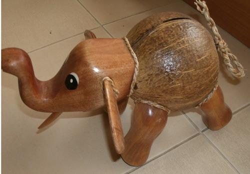 coconut shell saving doll-elephant bany