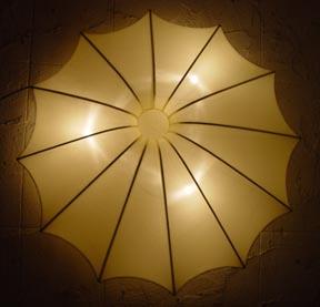 Silk Lamp sun shape large hanging