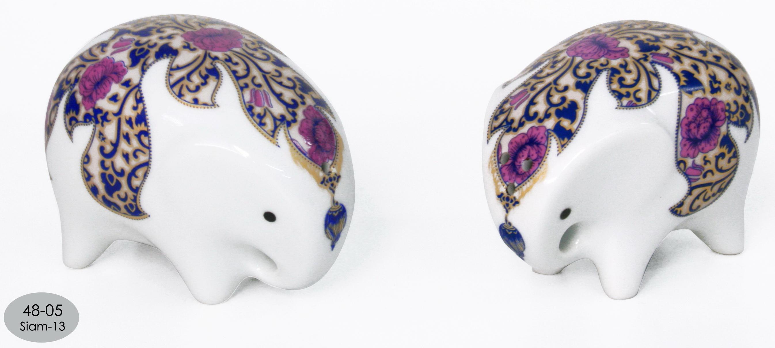 Elephant Ceramic Vase-19