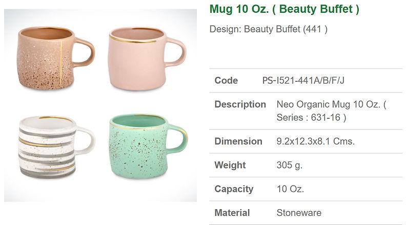Ceramic Mug 10 oz. Beauty Buffet - .jpg