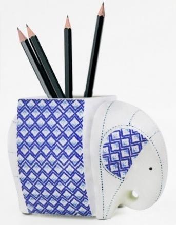 Elephant Ceramic Vase-7