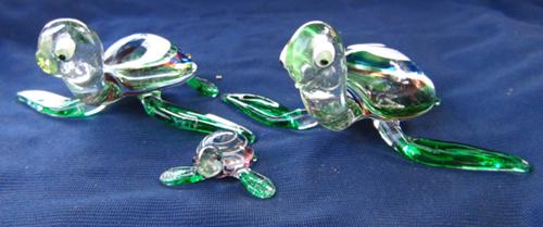 Blown glass-Turtle